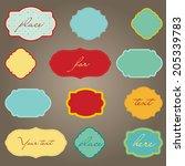 vector set of different vintage ... | Shutterstock .eps vector #205339783