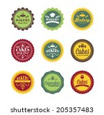 collection of vintage retro...   Shutterstock .eps vector #205357483