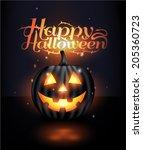 dark vector jack o lantern... | Shutterstock .eps vector #205360723