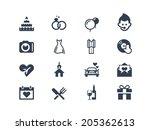 wedding icons | Shutterstock .eps vector #205362613