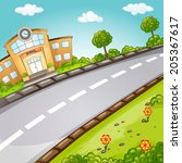 school. welcome back to school. | Shutterstock .eps vector #205367617