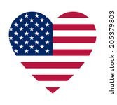 The Heart With American Flag...