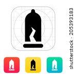 damaged condom icon. vector...
