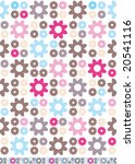 retro styled seamless floral... | Shutterstock .eps vector #20541116