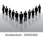 collection of  businessmen in... | Shutterstock .eps vector #20541401