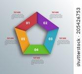 abstract 3d paper infographics. ...   Shutterstock .eps vector #205426753