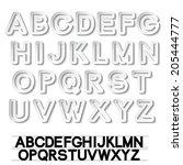paper font alphabet   white... | Shutterstock . vector #205444777