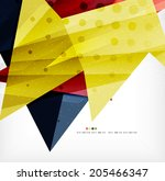 modern 3d abstract shapes on...   Shutterstock .eps vector #205466347