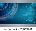blue technology background... | Shutterstock .eps vector #205471867