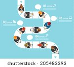 creative business and office... | Shutterstock .eps vector #205483393