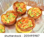Omlette In Ham Cups