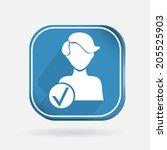square colored icon  add friend ... | Shutterstock .eps vector #205525903