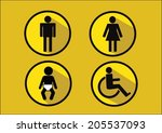 restroom symbol icon of man... | Shutterstock .eps vector #205537093