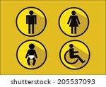 restroom symbol icon of man... | Shutterstock .eps vector #205537093