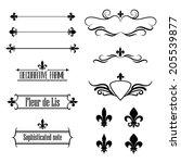 Set Of Calligraphic Flourish...