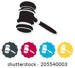 auction bid icon   illustration | Shutterstock .eps vector #205540003