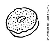 doughnut cartoon vector icon | Shutterstock .eps vector #205576747