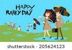 rain set a | Shutterstock .eps vector #205624123