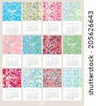 simple 2015 year calendar.... | Shutterstock .eps vector #205626643