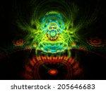 vibrant abstract fractal... | Shutterstock . vector #205646683