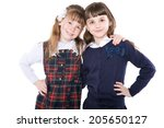 portrait of a two happy... | Shutterstock . vector #205650127
