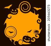 pumpkin halloween indicating... | Shutterstock . vector #205663273