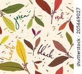Pattern Of Tea Leaves. Seamles...