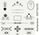 calligraphic design elements... | Shutterstock .eps vector #205716133