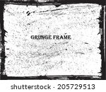 grunge frame. vector template   Shutterstock .eps vector #205729513