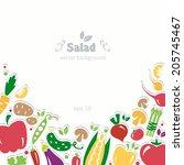 vegetables background diet... | Shutterstock .eps vector #205745467