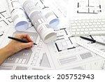 plans   tools   Shutterstock . vector #205752943