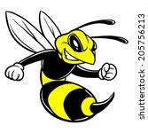 bee mascot   Shutterstock .eps vector #205756213