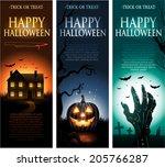 vertical vector halloween... | Shutterstock .eps vector #205766287