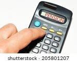 pensioner calculating pension...   Shutterstock . vector #205801207