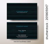 abstract business cards on grey ... | Shutterstock .eps vector #205805047