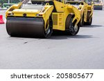 view of heavy roller during... | Shutterstock . vector #205805677