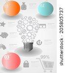 education info graphic vintage... | Shutterstock .eps vector #205805737