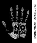 hand print with no war tag... | Shutterstock .eps vector #205812643