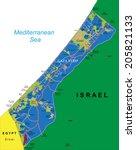 gaza strip map | Shutterstock .eps vector #205821133