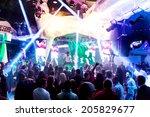 odessa   june 22  nightclub... | Shutterstock . vector #205829677