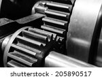 gear closeup in black and white | Shutterstock . vector #205890517