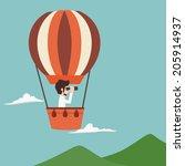 businessman vision   eps10... | Shutterstock .eps vector #205914937