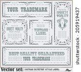 border style labels on... | Shutterstock .eps vector #205919437