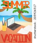 vacation background card design ... | Shutterstock .eps vector #205926517