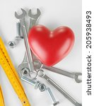 heart and tools. concept ... | Shutterstock . vector #205938493