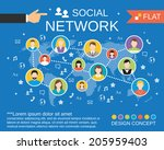 social network computer users... | Shutterstock .eps vector #205959403