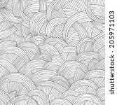 abstract hand drawn background | Shutterstock .eps vector #205971103