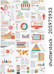 shopping marketing info graphic ... | Shutterstock .eps vector #205975933