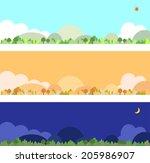 mountain | Shutterstock .eps vector #205986907