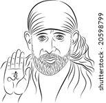 Calligraphic, Shirdi Sai Baba, was an Indian guru, yogi and fakir who is regarded by his Hindu and Muslim followers as a saint